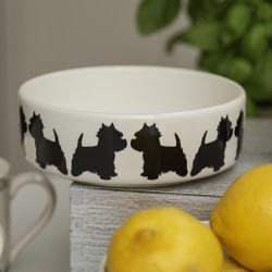 Standing Westie Dog Bowl - By Victoria Armstrong