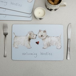 Welcoming Westie Placemat by Alex Clark