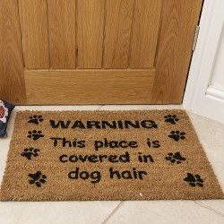 Warning! This Place Is Covered In Dog Hair... Coir Mat