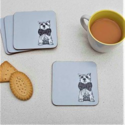 Archie Westie Modern Coasters (set of 4) by Gillian Kyle