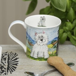 Daft Westie and Scottie Dog Mug - by Dunoon