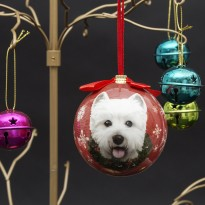 Merry Christmas Westie Tree Bauble