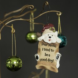 Hanging Westie Christmas Decoration... Dear Santa