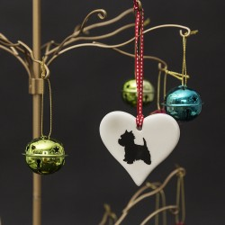 Standing Westie Heart Ornament - By Victoria Armstrong
