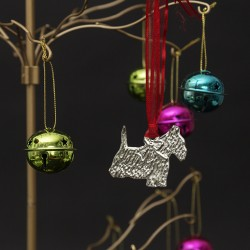 Pewter Westie Christmas Tree Decoration