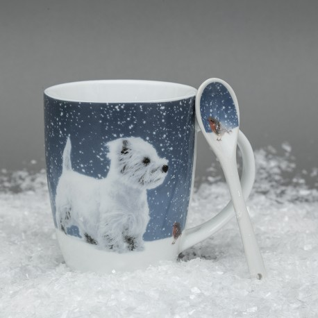 West Highland Terrier Hot Chocolate Mug Winter Westie Mug