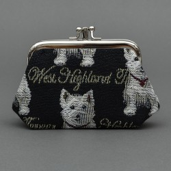 Tapestry Westie Frame Purse - By Signare