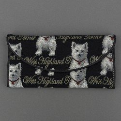 Tapestry Westie Envelope Purse - By Signare