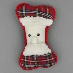 Father Christmas Bone Dog Toy