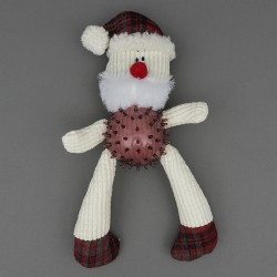 Father Christmas Knobbly Santa Dog Toy