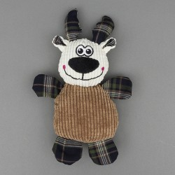 Cuddly Reindeer Dog Toy