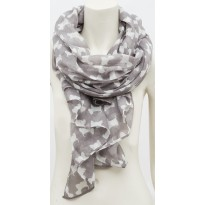 Silver Westie Wrap Around Scarf