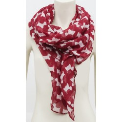 Red Westie Wrap Around Scarf