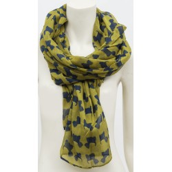 Mustard Westie Wrap Around Scarf