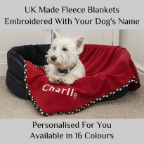 Personalised Pet Blanket - Embroidered With a Name