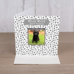 Your Westie on a Compact Mirror With Card - Woof Woof