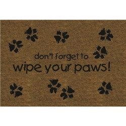 Wipe Your Paws Coir Door Mat