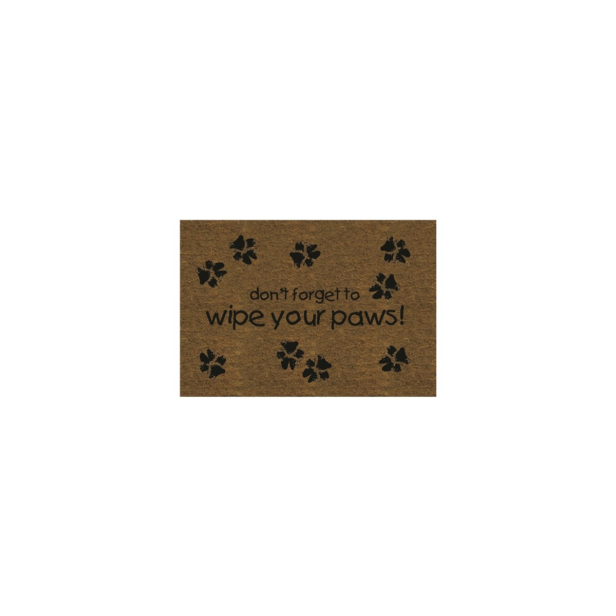 Wipe Your Paws Coir Door Mat Gifts For Westie Dog Owners