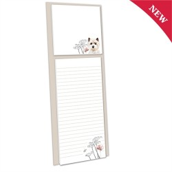 Westie Magnetic Memo Pad with Sticky Notes - By Pollyanna Pickering