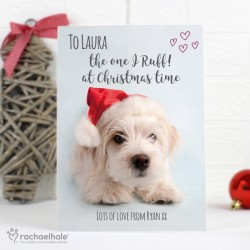 Personalised West Highland Terrier Christmas Card