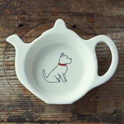 West Highland Terrier Teabag Dish