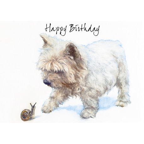 Westie Birthday Card West Highland White Terrier Birthday Card