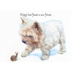 Chippy Westie Greetings Card