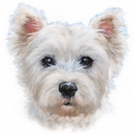 Westie Birthday Card West Highland White Terrier Birthday Cake Card