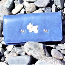 Little Westies Purse Long Blue
