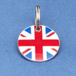 Union Jack Pet ID Tag