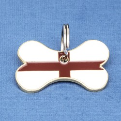 St George Cross Bone Pet ID Tag
