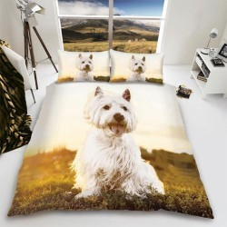 Westie Dog Duvet Set