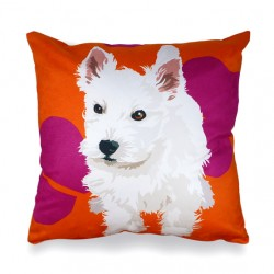 Westie Puppy Cushion