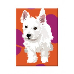 Westie Puppy Fridge Magnet