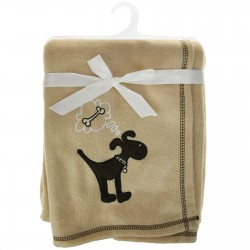Beige Dog Design Pet Blanket