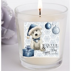 Archie Westie Winter Wishes Christmas Candle