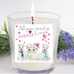 All You Need Is Westie Love Candle