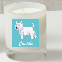 Personalised Westie Candle