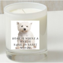 Home is a Westie Candle