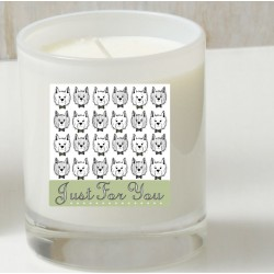 Cartoon Westie Candle