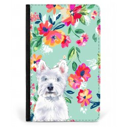 Charlie Westie Floral Passport Cover