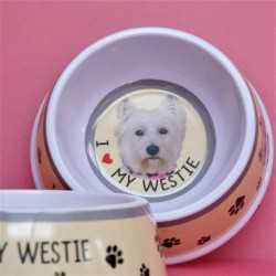 I love My Westie Dog Bowl