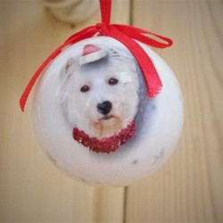Santa Paws Westie Christmas Bauble