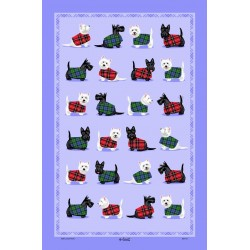 Westie And Scottie Tea Towel