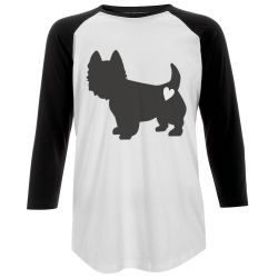 Westie Love Baseball T-Shirt
