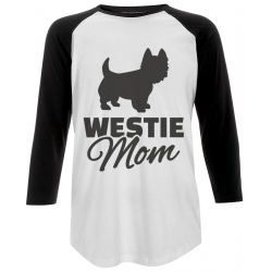 Westie Mom Baseball T-Shirt