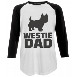 Westie Dad Baseball T-Shirt