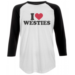 I Love Westies Baseball T-Shirt Unisex