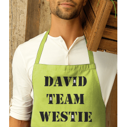 TEAM WESTIE Apron Personalised