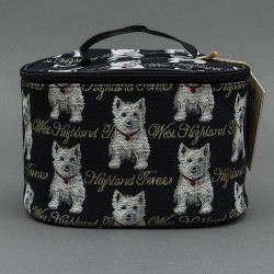 Tapestry Westie Vanity Case - By Signare